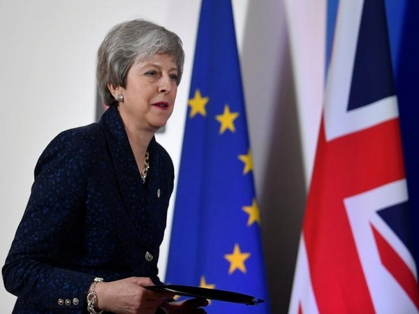 UK PM Theresa May in Brussels on March 21