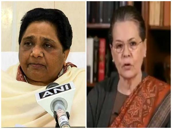 BSP chief Mayawati and UPA chairperson Sonia Gandhi . File Photo/ANI