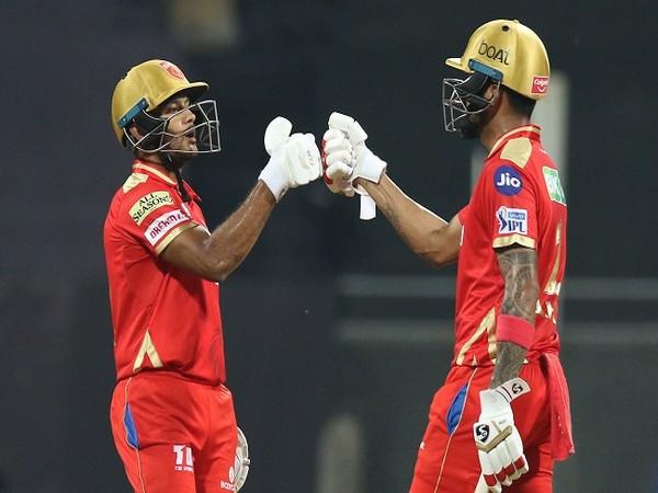 Punjab Kings batsmen Mayank Agarwal and  KL Rahul (Image: BCCI/IPL)