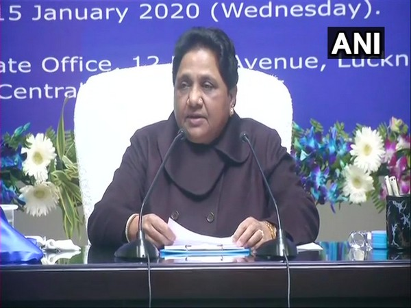 BSP chief Mayawati speaking at a press conference in Lucknow on Wednesday.