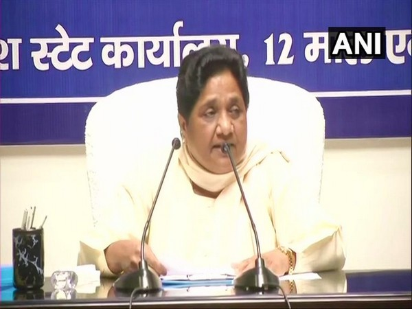 BSP supremo Mayawati addresing a press conference at Lucknow on Saturday