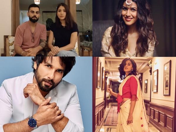 Anushka Sharma, Virat Kohli, Nimrat Kaur, Shahid Kapoor, and Taapsee Pannu. (Image courtesy: Twitter & Instagram)