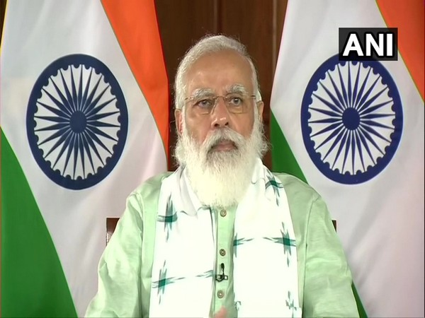 Prime Minister Narendra Modi while inaugurating three projects in Gujarat via video conferencing on Saturday. (Photo/ANI)
