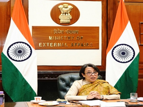 Riva Ganguly Das, Secretary (East), Ministry of External Affairs at the meeting. (Photo Credit: Twitter/ Anurag Srivastava)