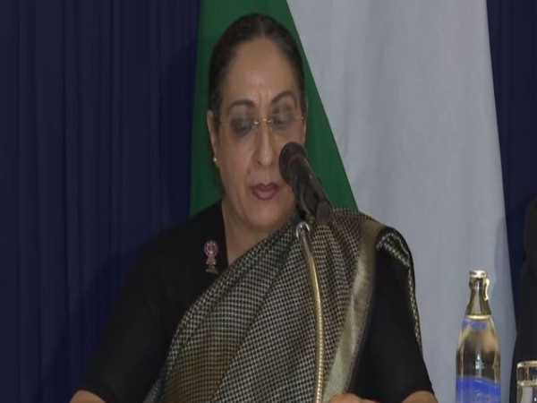 Secretary (East) in the MEA Vijay Thakur Singh briefing media persons in Bangkok on Monday. Photo/ANI