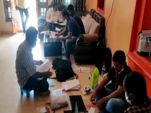 Anti-Corruption Bureau conducted a raid over corruption charges on the Joint Collector of Medak District. (Photo/ANI)