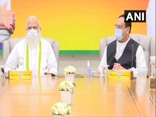 Prime Minister Narendra Modi and BJP chief JP Nadda (Photo/ANI)
