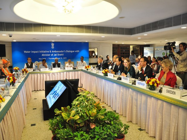 Ambassadors and diplomats of various countries participated in an event on water impact initiatives.