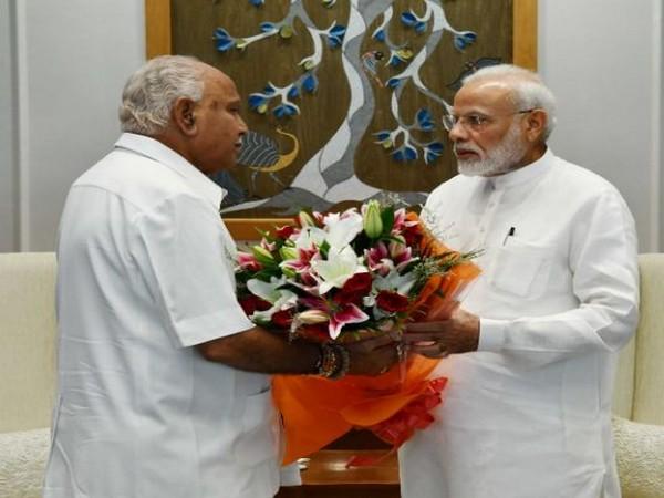 Karnataka Chief Minister BS Yeddyurappa on Friday met Prime Minister Narendra Modi. Photo/ANI