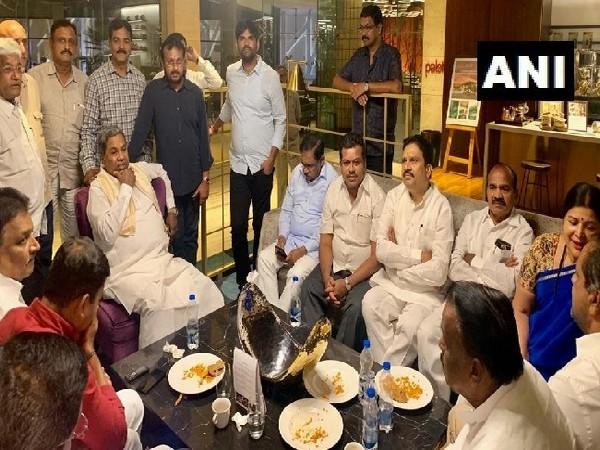 A meeting of Karnataka Congress MLAs with Congress Legislative Party leader Siddaramaiah and Deputy Chief Minister G Parameshwara took place at Taj Vivanta hotel on July 20.