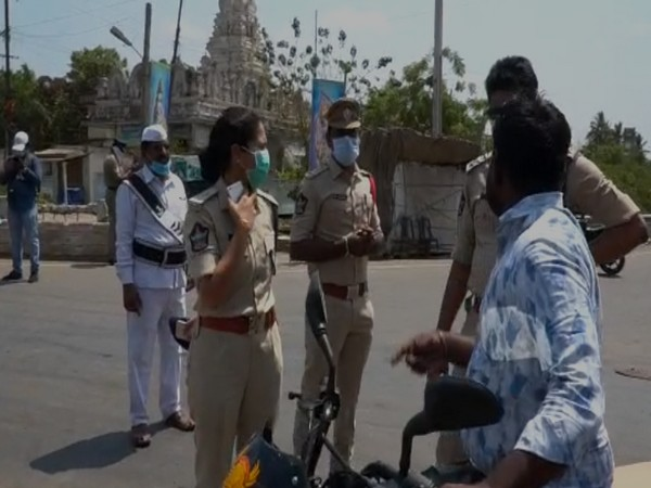 Andhra Pradesh Police tightens noose around those violating lockdown in the state. Photo/ANI