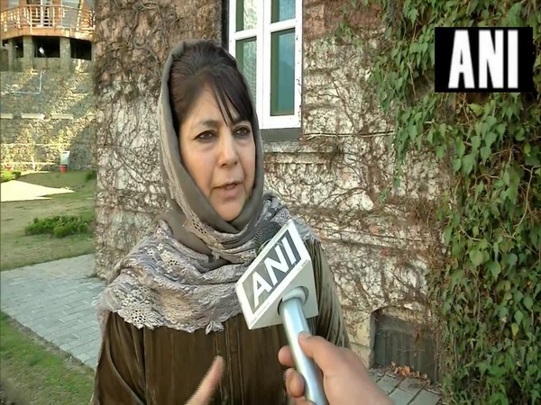 People's Democratic Party (PDP) president Mehbooba Mufti speaking to ANI.