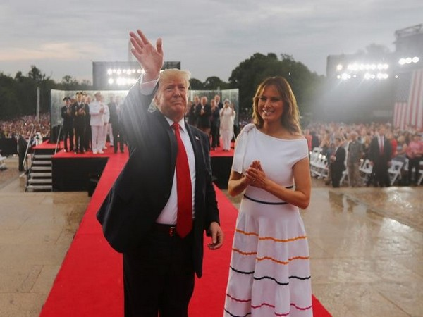 US President Donald Trump and First Lady Melania Trump at 'Salute to America' event
