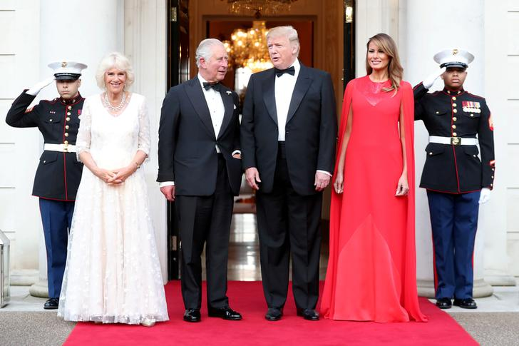 Camilla, Duchess of Cornwall, Prince Charles, U.S. President Donald Trump and first lady Melania Trump