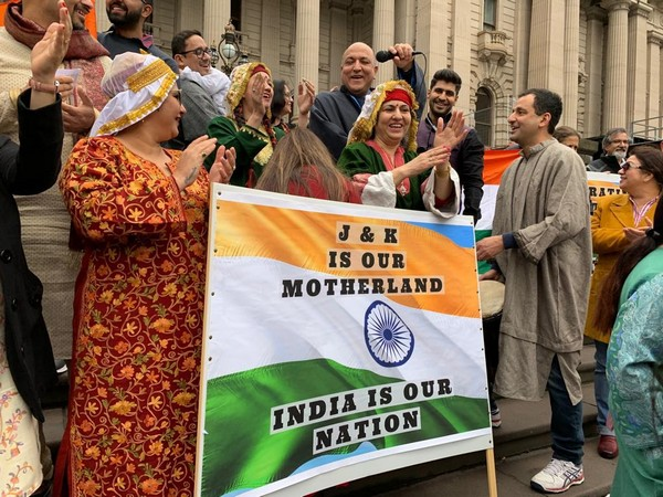 The Kashmiri Pandit community in Melbourne held a rally on Sunday