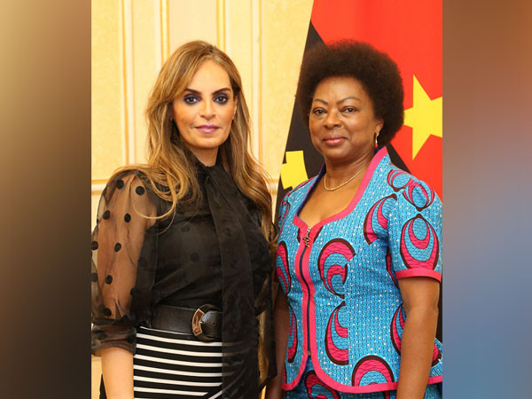 Dr Rasha Kelej, CEO of Merck Foundation with the First Lady of Angola, Ana Dias Lourenco during her visit to Angola