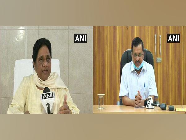 BSP chief Mayawati (left) and Delhi Chief Minister Arvind Kejriwal (right)