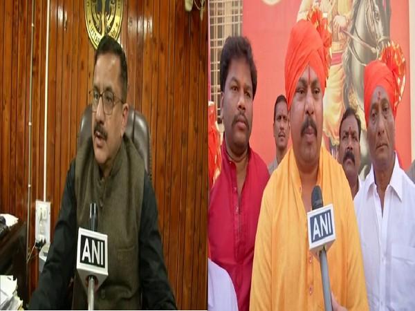 Shia Waqf board chief Wasim Rizvi (left) and BJP MLA from Telangana Raja Singh (right). Photo/ANI