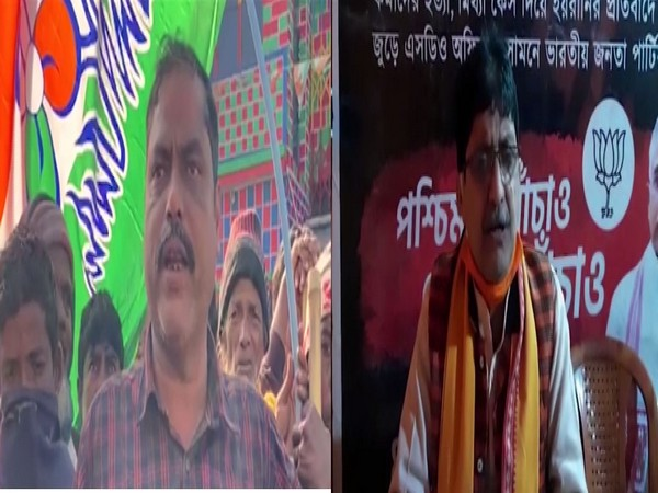 TMC leader SK Noor (left) and BJP leader Anup Chakraborty (right)