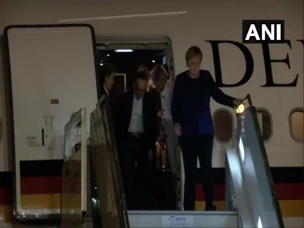 German Chancellor Angela Merkel arrived in New Delhi on Thursday.