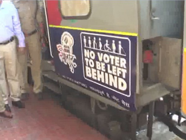 The ECI is collaborated with the Indian railways for vinyl wrap of trains with messages urging voters to cast votes.