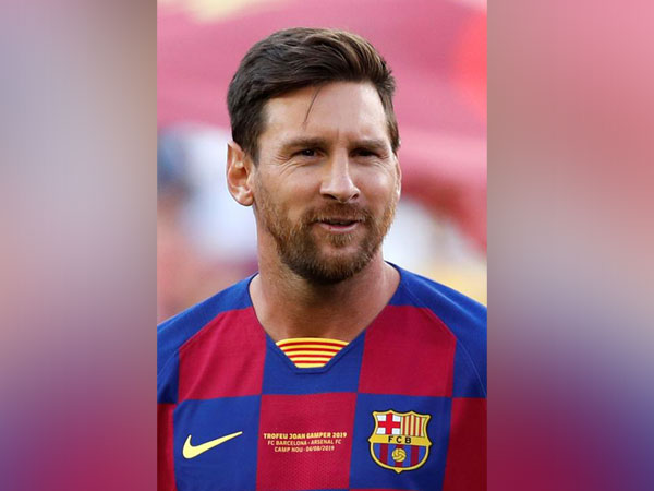 Barcelona player Lionel Messi