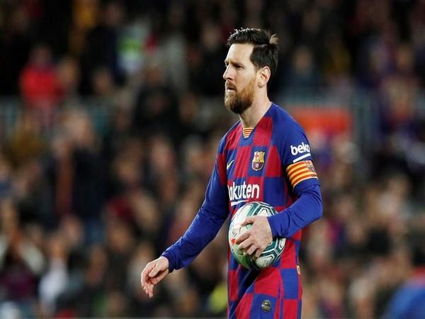 Argetine striker Lionel Messi
