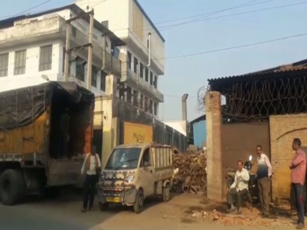 Visual of the factory which was raided by UPPCB in Moradabad on Monday. Photo/ANI