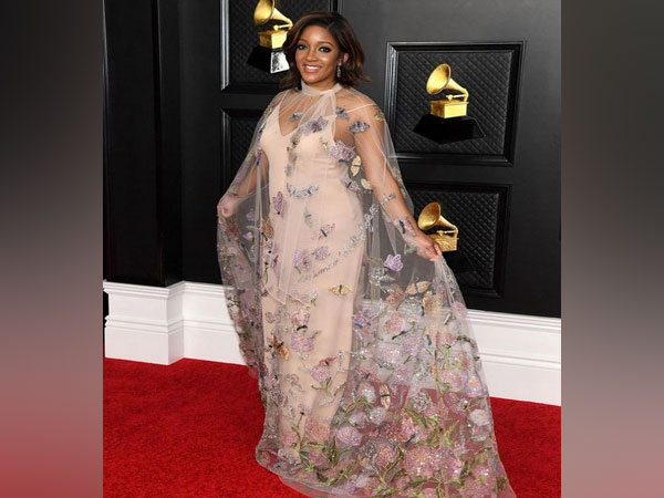 Mickey Guyton's look from Grammys 2021 (Image source: