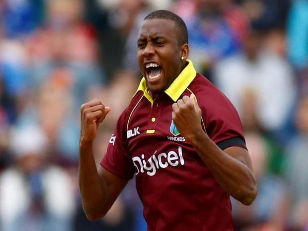 West Indies bowler Miguel Cummins