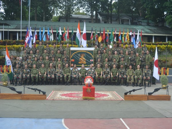 Military representatives from India, Japan after the conclusion of the second edition of annual military exercise 'Dharma Guardian' in Mizoram on Thursday