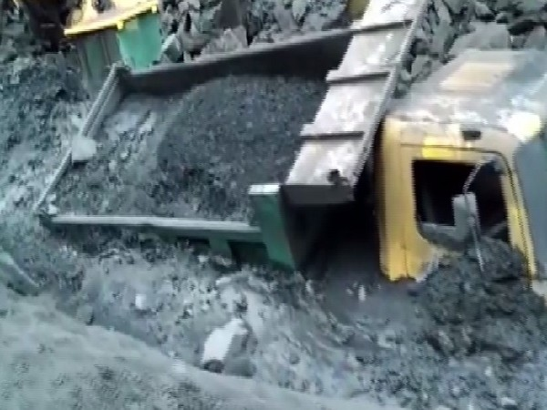 Mine collapse at Bharatpur, Odisha (ANI photo)