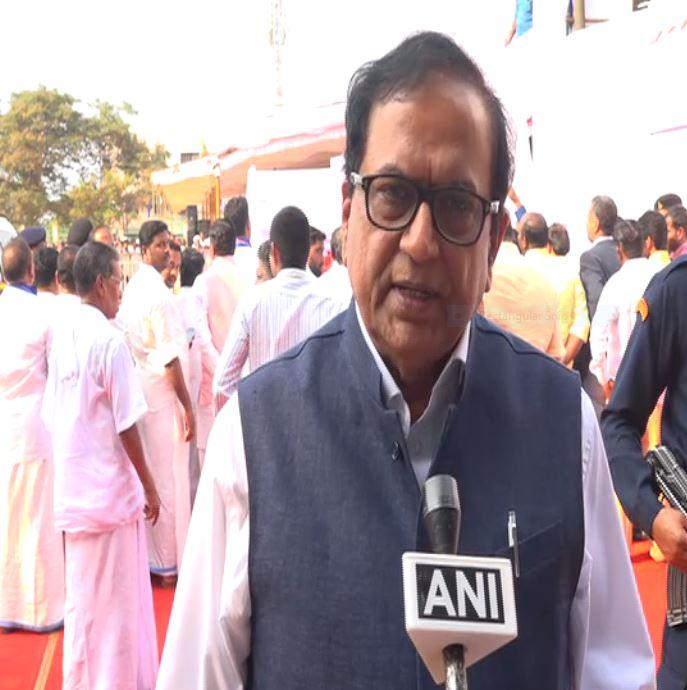 BSP leader Satish Chand Mishra talking to ANI at Thiruvananthapuram on Thursday