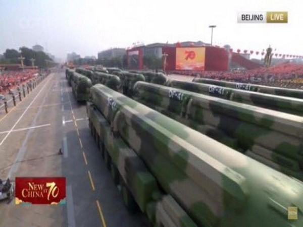 Image from October 1 military parade at Tiananmen Square at the 70th anniversary of the People's Republic of China founding.