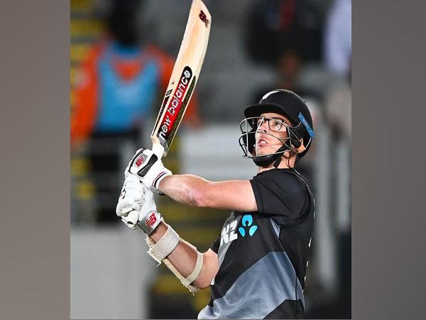 New Zealand cricketer Mitchell Santner (Image: Blackcaps' Twitter)