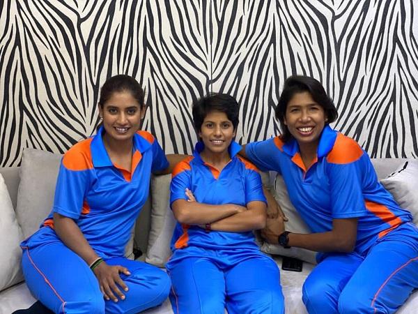 Indian women's cricketer Mithali Raj, Poonam Yadav and Jhulan Goswami (Image: Mithali Raj's Twitter)