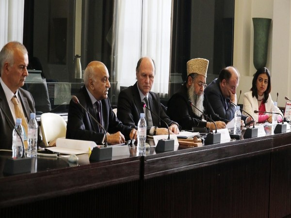 MJ Akbar at a meeting held in Geneva to discuss the CAA