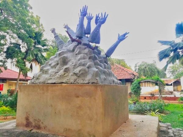 Jaffna University war memorial (Photo Credit: Twitter/ Mk Stalin)