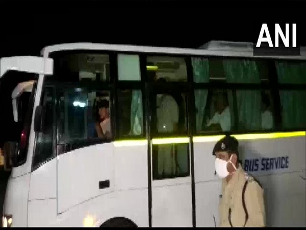Congress MLAs along with independent MLAs on their way to attend meeting over RS election