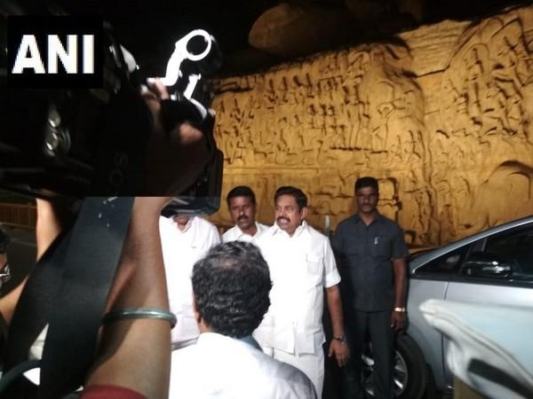 Tamil Nadu Chief Minister Edappadi K Palaniswami in Mamallapuram, Tamil Nadu on Thursday.