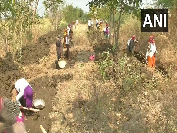 MGNRGA workers working in Honnakiranagi village in Kalaburagi. (Photo/ANI)