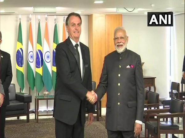 Prime Minister Narendra Modi with Brazilian President Jair Bolsonaro in Brasilia