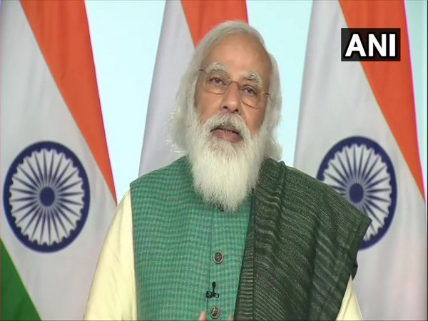 PM Narendra Modi speaking after releasing financial assistance of around Rs 2,691 crores to 6.1 lakh beneficiaries in Uttar Pradesh under the PMAY-G via video conferencing on Wednesday.