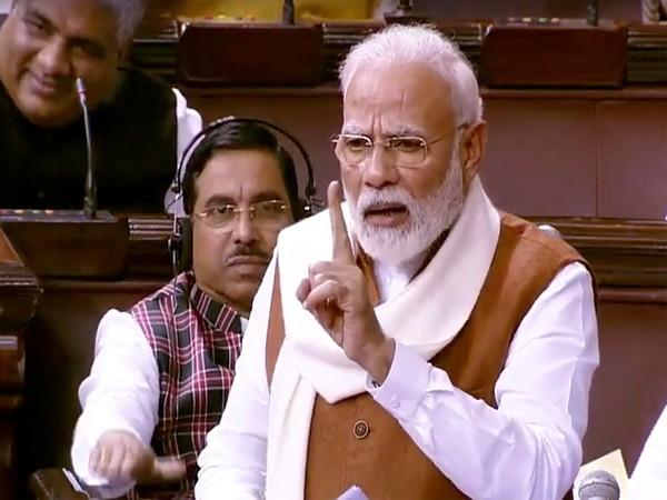 Prime Minister Narendra Modi speaking in the Rajya Sabha on Thursday.