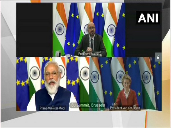Prime Minister Narendra Modi speaking at the 15th India-EU summit virtually on Wednesday.