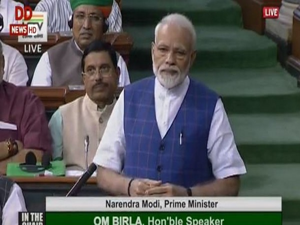 Prime Minister Narendra Modi replying to the 'Motion Of Thanks On the President's Address', in the Lok Sabha.