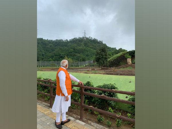 Visual from Prime Minister Narendra Modi's visit to Jungle Safari area at Kevadia, Gujarat in September 2019. [Photo courtesy: PMO India]