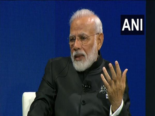 Prime Minister Narendra Modi speaking at Bloomberg Global Business Forum in New York on Wednesday.