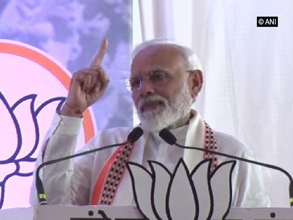 Prime Minister Narendra Modi addressing a rally in Mumbai