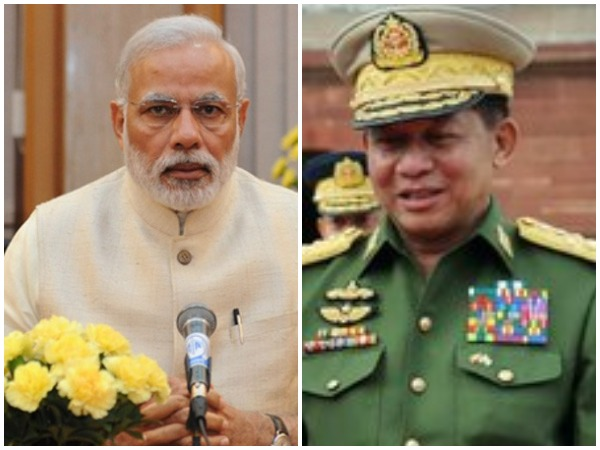 Prime Minister Narendra Modi (L), Commander-in-Chief of the Myanmar Armed Forces Senior General Min Aung Hlaing (R) (representative image)